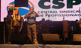 CSP marca presença na festa do trabalhador de Guarulhos