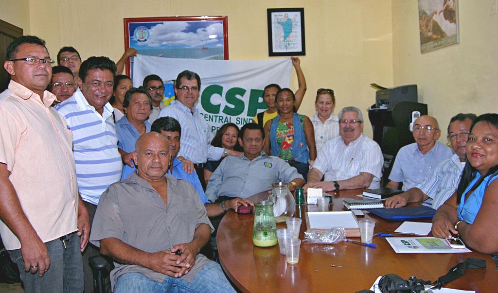 Filiados criam comissão da CSP em Belém