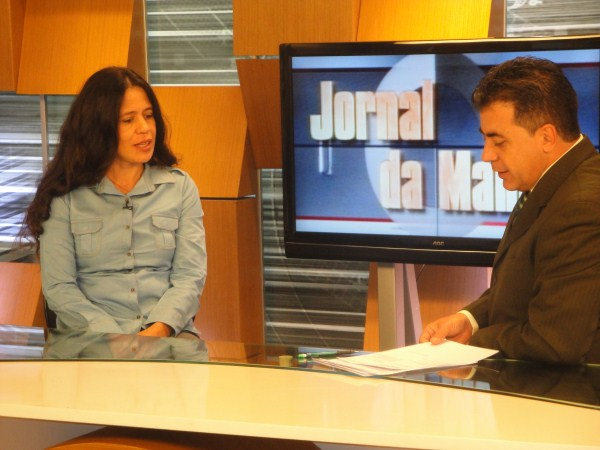 Diany Dias é entrevistada pela TV Gazeta do MT
