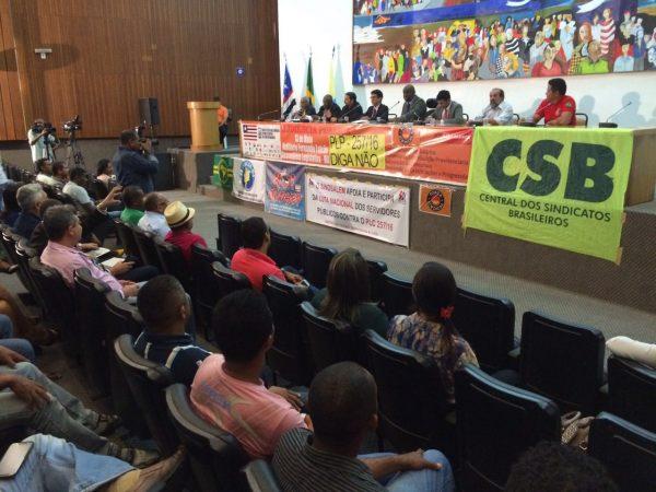 CSB participa de audiência pública contra PLP 257 em São Luís (MA)