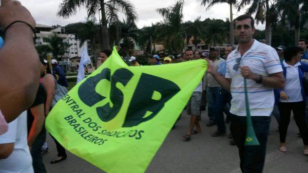 CSB 18 sindicatos do Espírito Santo protestam por reajuste