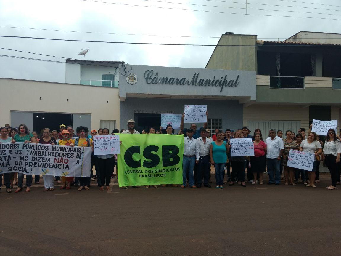 Atos fecham ciclo inicial de protestos contra a Reforma da Previdência em 28 cidades ligadas à FESERP-MG