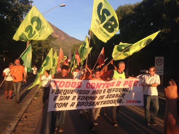 """FESERP/MG realiza dia do """"Fechô Geral"""" como esquenta para a Greve do dia 28/04"""