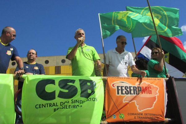 Com o apoio da CSB, delegação da Feserp/MG vive dia intenso em Brasília contra as reformas