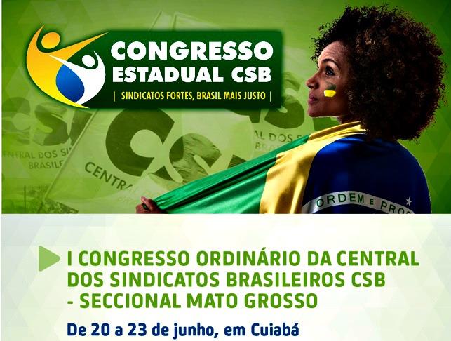 Estão abertas as inscrições para o Congresso Estadual da CSB no Mato Grosso