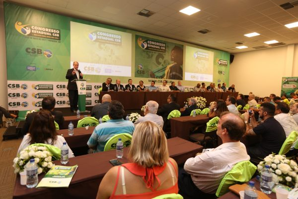 """""""A CSB está crescendo porque reafirma questões estratégicas do País, como a independência e o trabalhismo"""", diz Ciro Gomes na abertura do Congresso Estadual no Ceará"""
