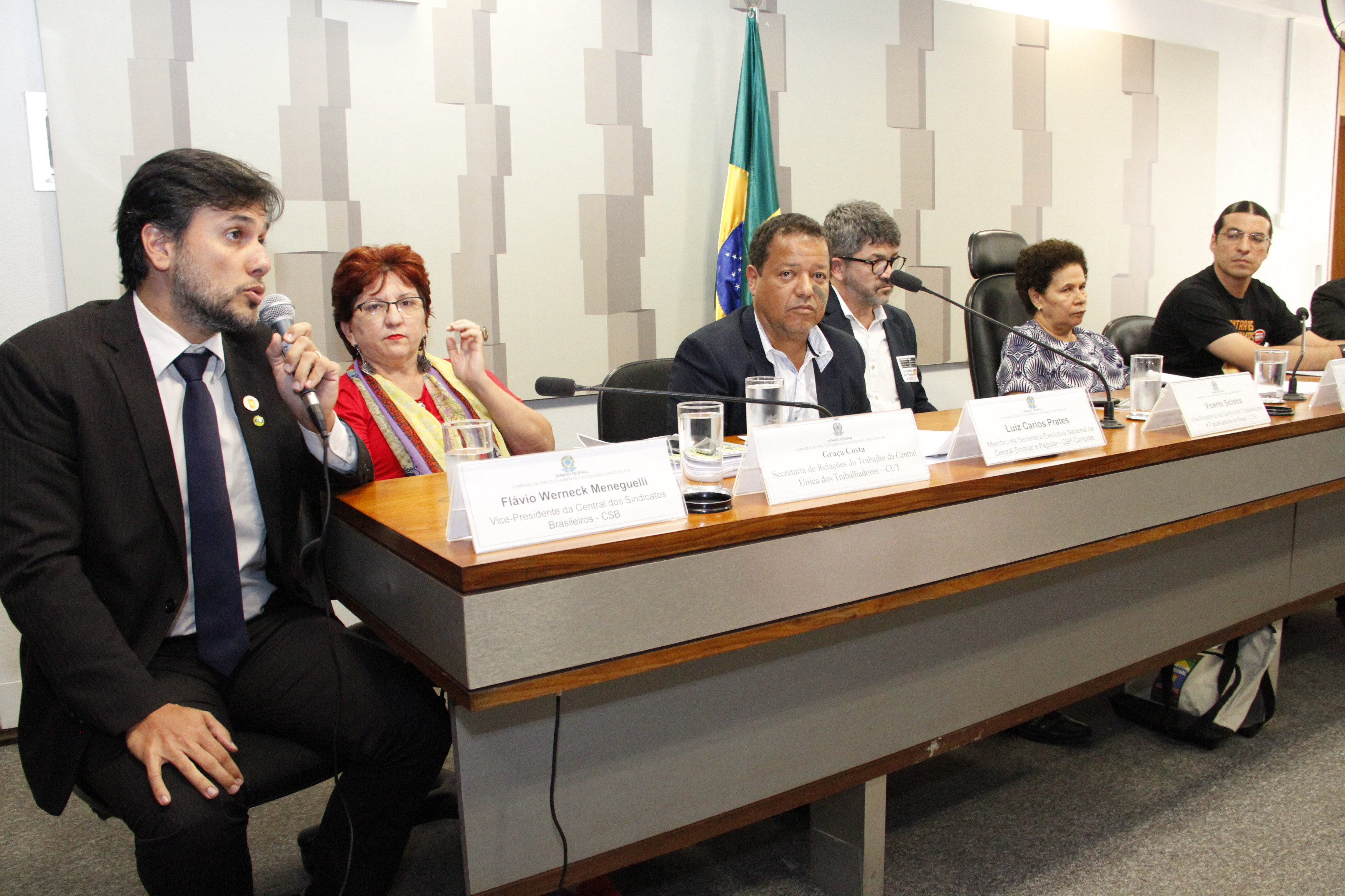 CSB participa de audiência pública no Senado para debater a reforma trabalhista