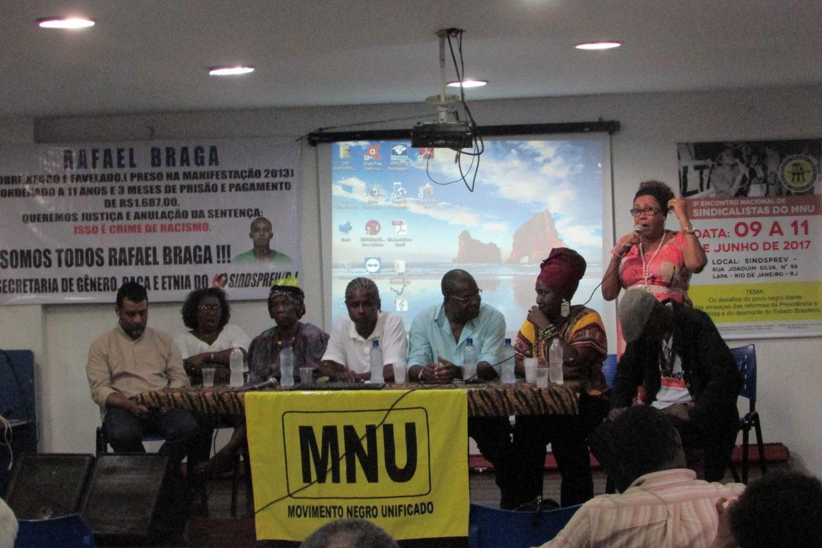 CSB e FESERP-MG marcam presença no Encontro Nacional de Sindicalistas do MNU