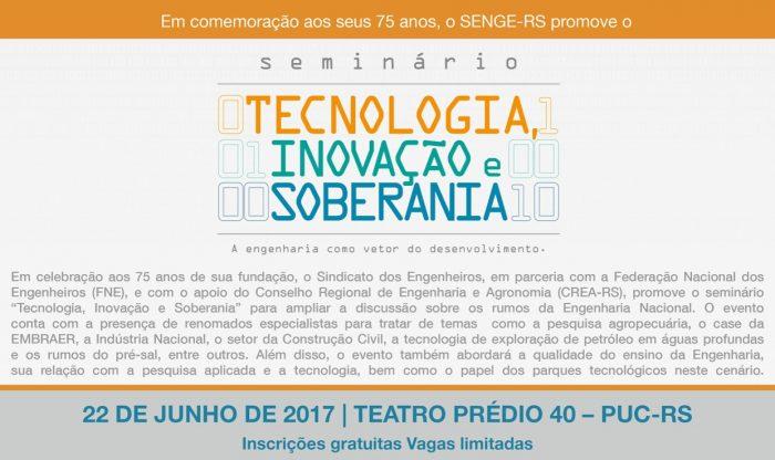 SENGE/RS organiza seminário para o setor de engenharia em comemoração aos 75 anos da entidade