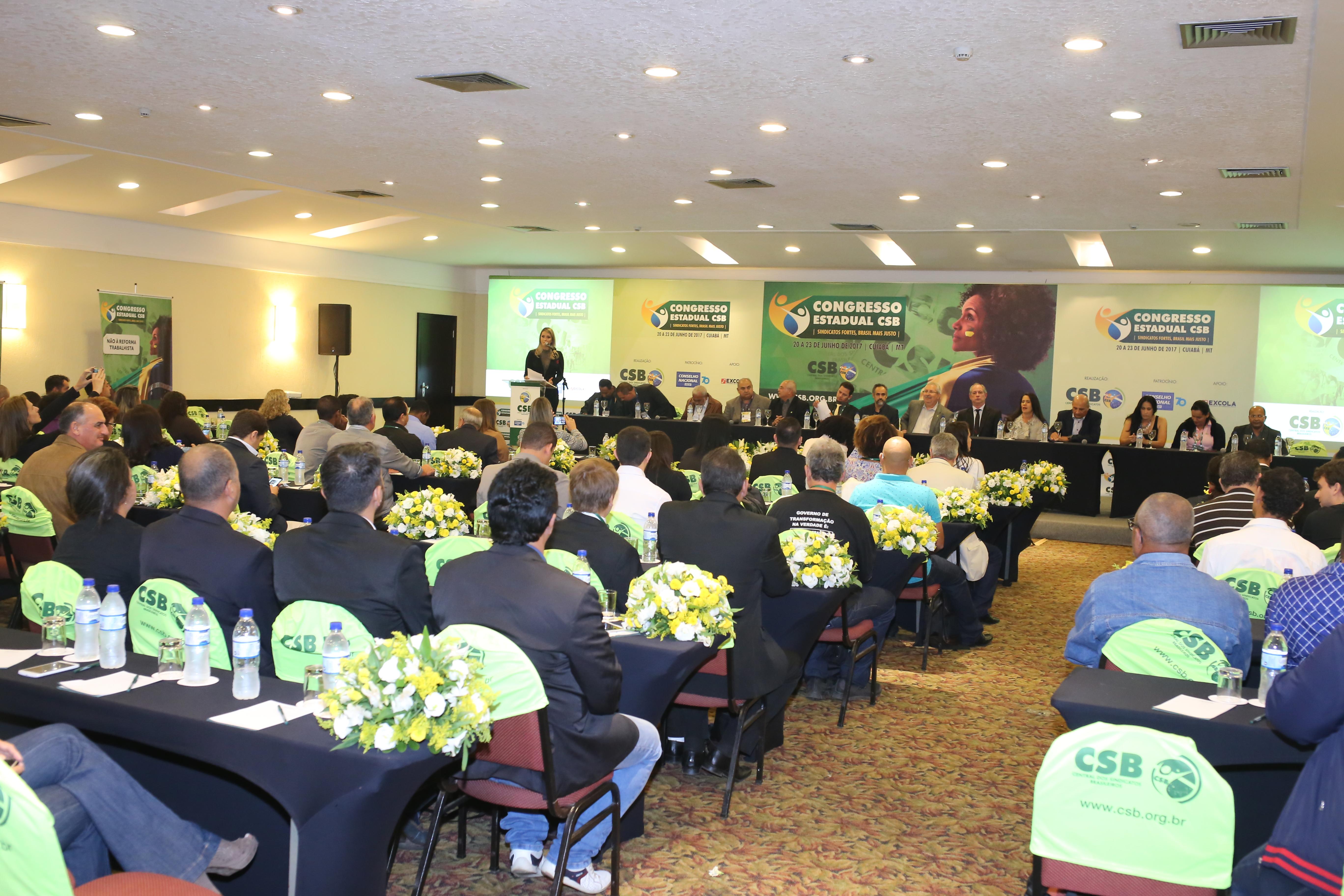 Cerimônia de abertura do Congresso Estadual CSB Mato Grosso – 20 a 23 de junho | 2017