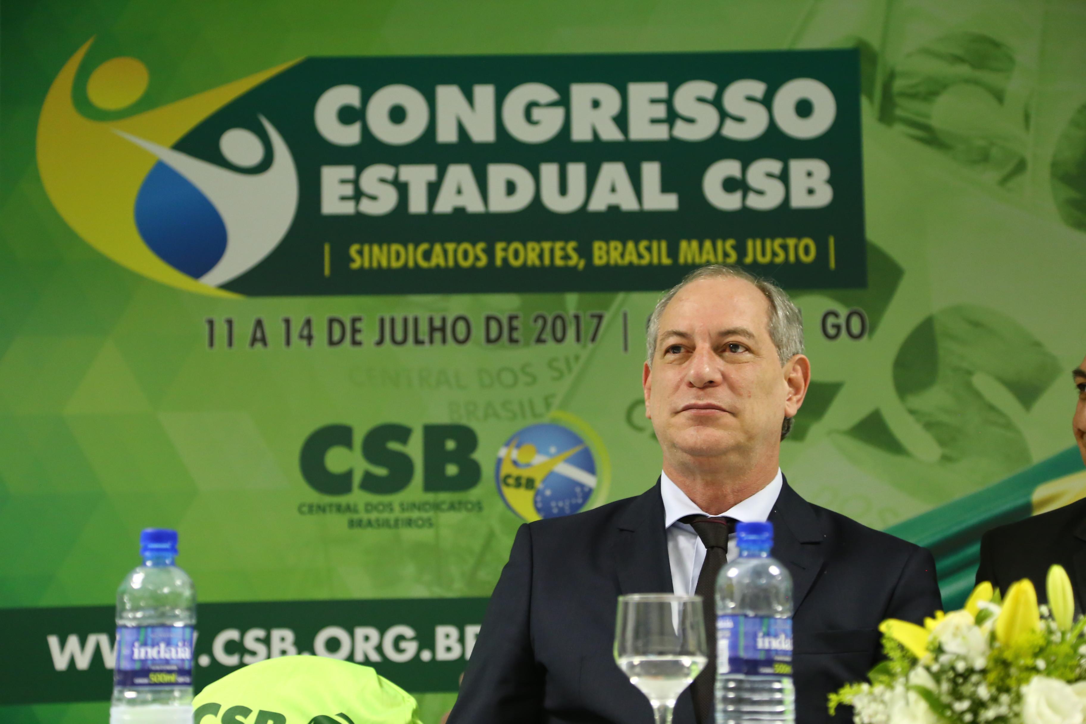Palestra de Ciro Gomes – Congresso Estadual CSB Goiás – 11 de julho | 2017