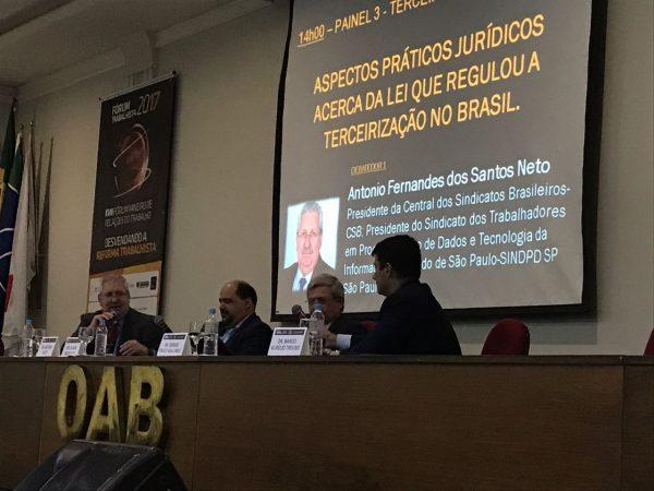 Trabalhadores, empresários e juristas debatem a reforma trabalhista em Uberlândia/MG