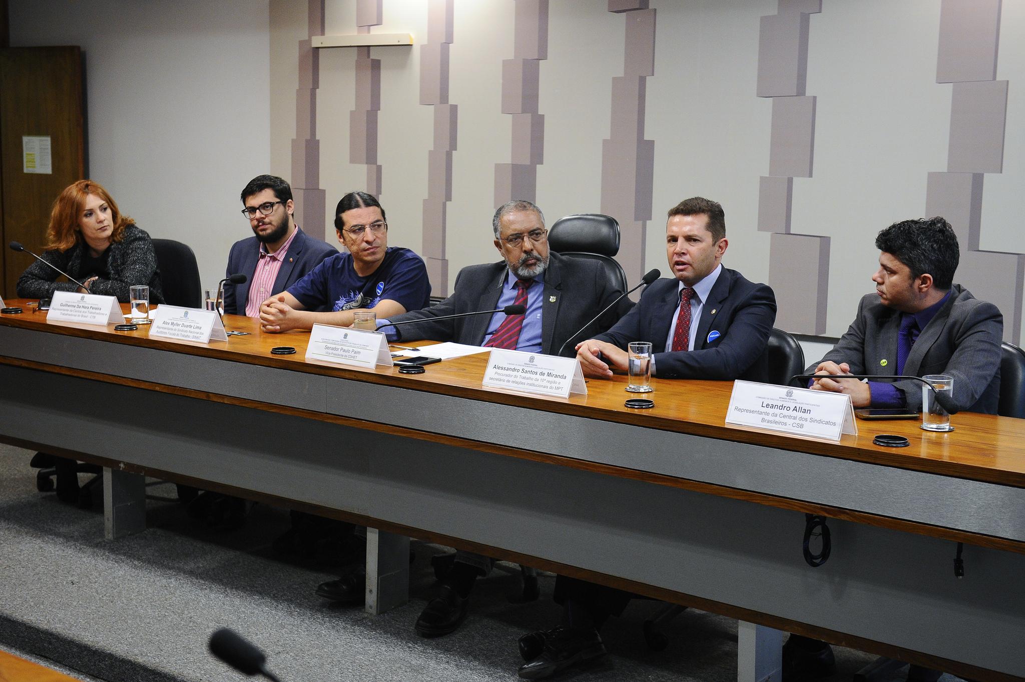 Por elaboração de um nova CLT, Leandro Allan participa de subcomissão no Senado Federal