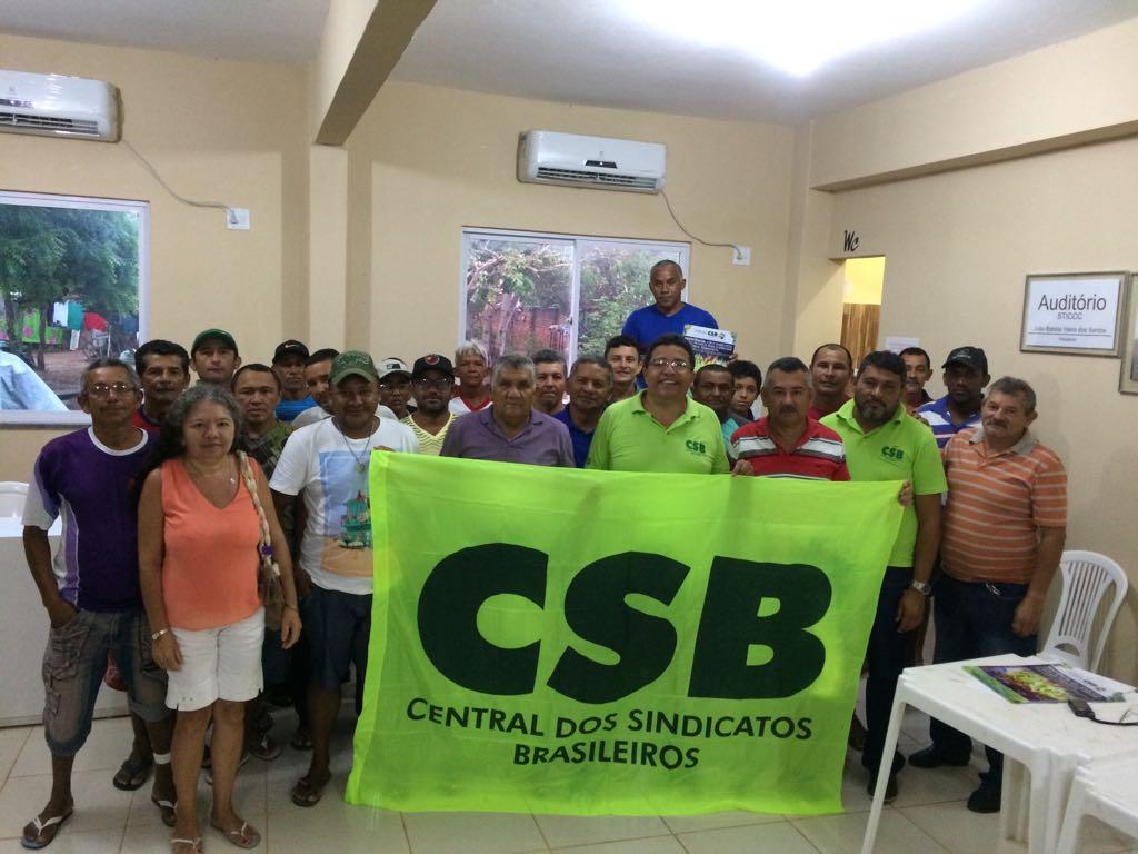 CSB participa de assembleia dos trabalhadores da construção civil de Camocim (CE)