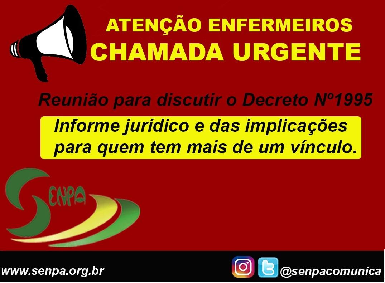 Contra decreto do governo do Pará, Senpa convoca enfermeiros para reunião