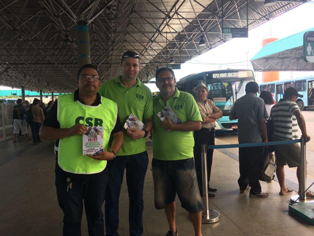 Dirigentes da CSB Ceará ampliam a mobilização dos trabalhadores contra a reforma da Previdência