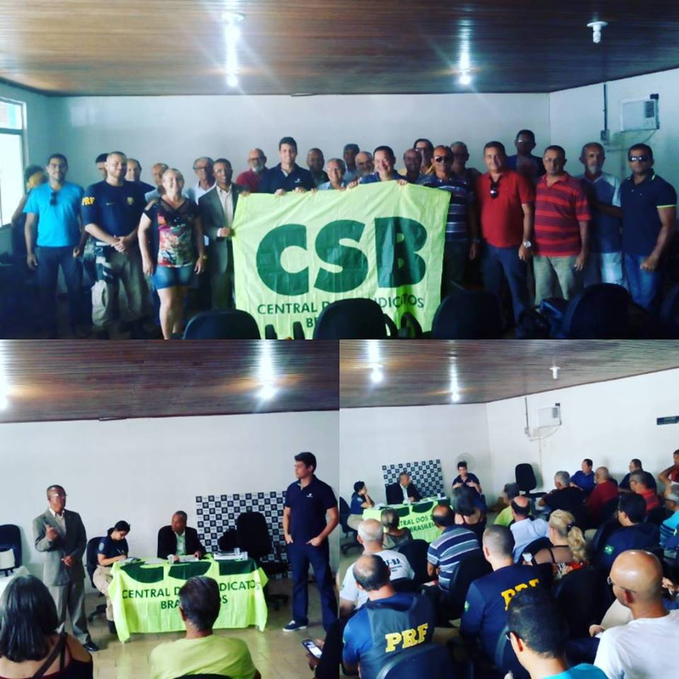 Policiais rodoviários federais da Bahia referendam filiação à CSB