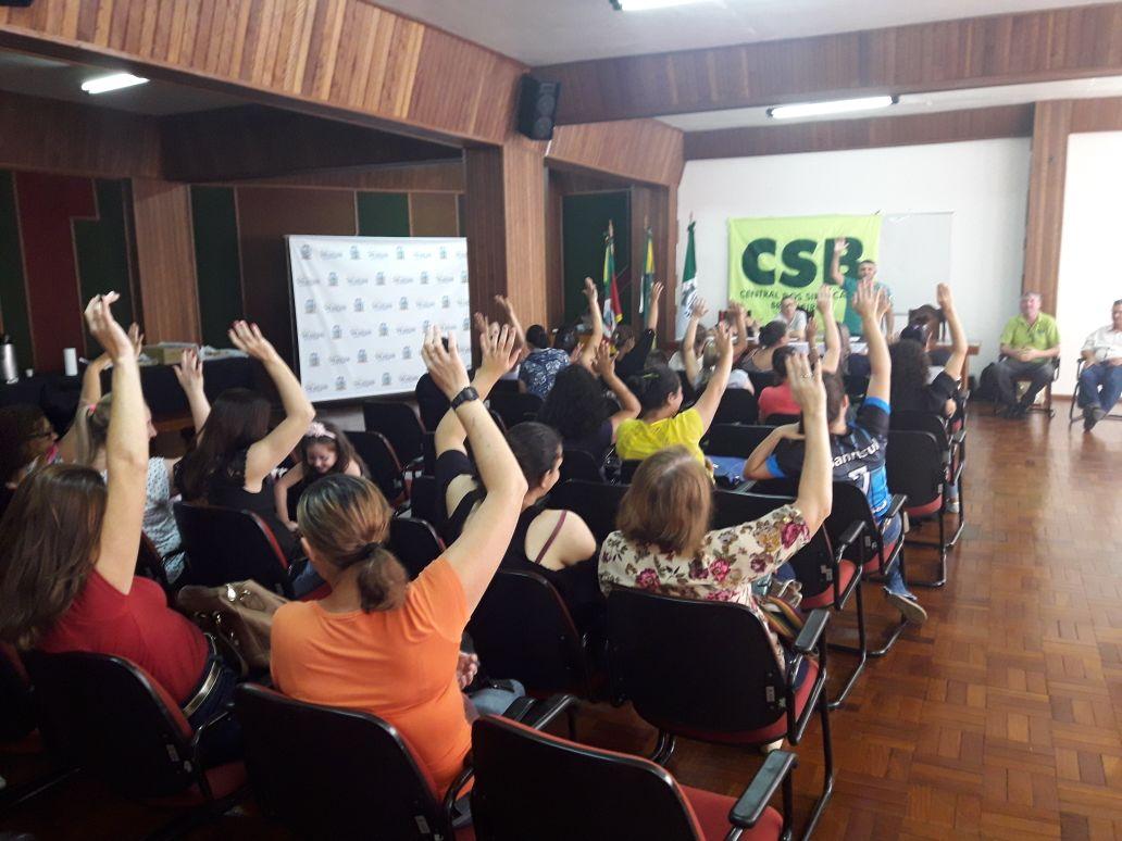 Em assembleia, servidores municipais de Encantado (RS) aprovam filiação à CSB