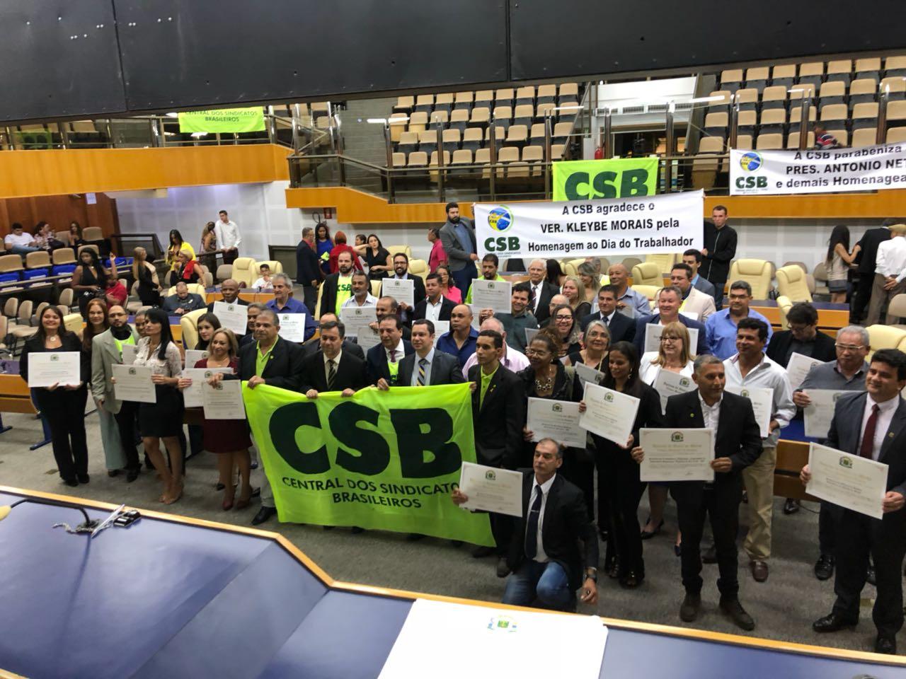 Homenagem à CSB na Câmera de Vereadores de Goiânia – 25/04/2018