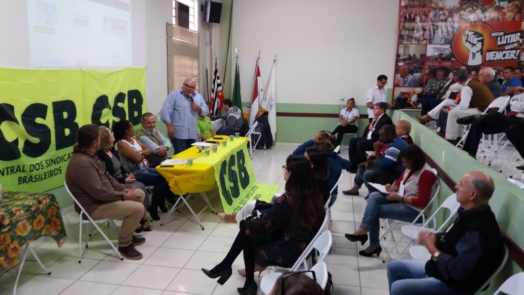 CSB SP reúne 65 entidades em Campinas para debater a reforma trabalhista