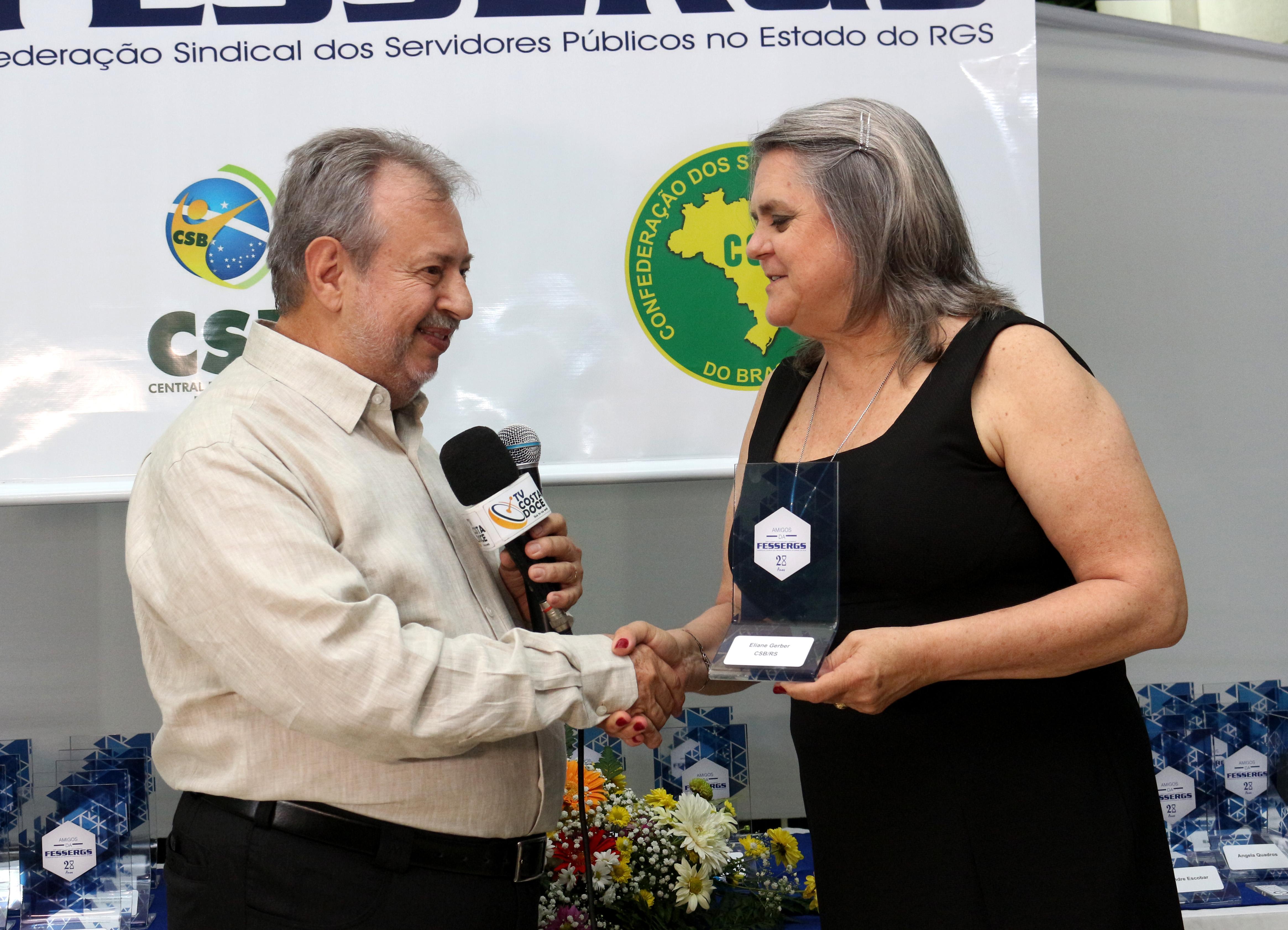 CSB é homenageada por Federação Sindical do Rio Grande do Sul