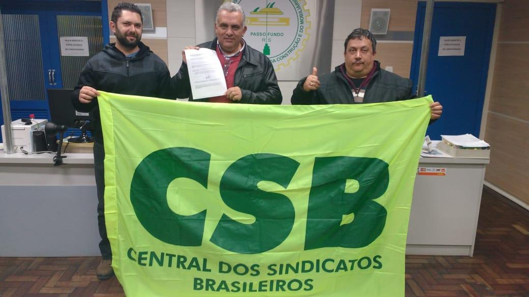 Com 10 mil trabalhadores, Sindicato da Construção e do Mobiliário de Passo Fundo filia-se à CSB