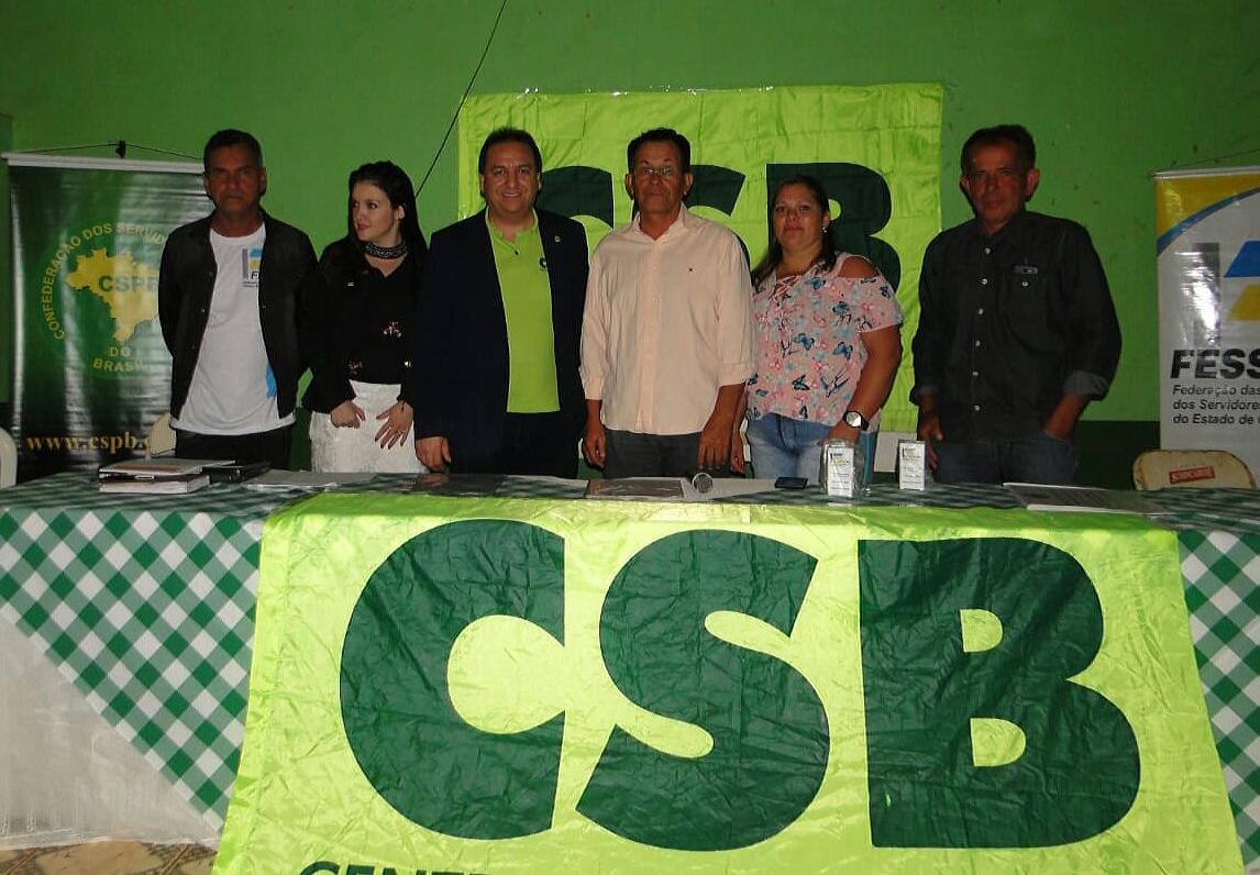 Sindicato dos Servidores de Carmo do Rio Verde (GO) oficializa filiação à CSB