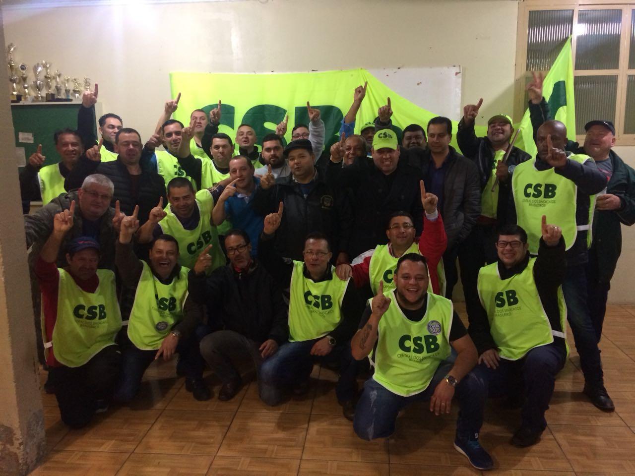 Chapa 1, apoiada pela CSB, vence eleições no Sindicato dos Vigilantes de Passo Fundo e Região