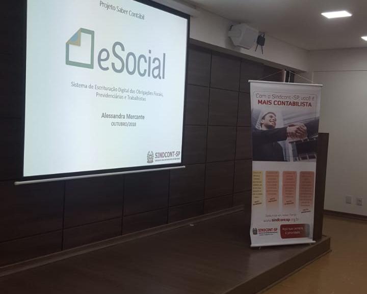 Contabilistas de SP participam de treinamento sobre a ferramenta digital E-Social