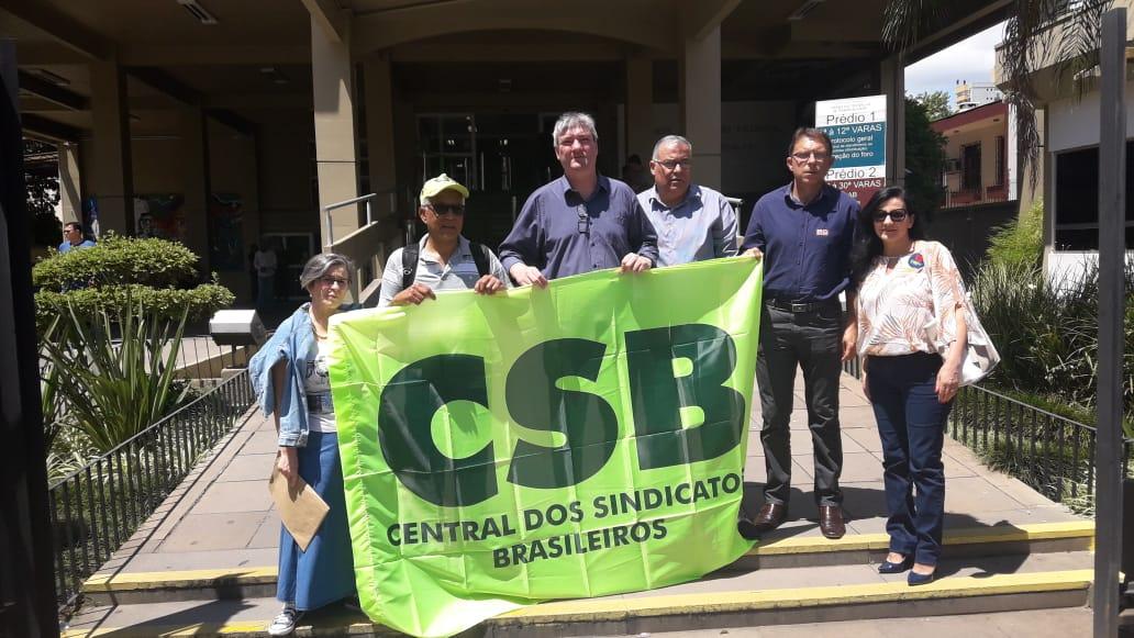 CSB RS participa de ato em defesa da Justiça do Trabalho