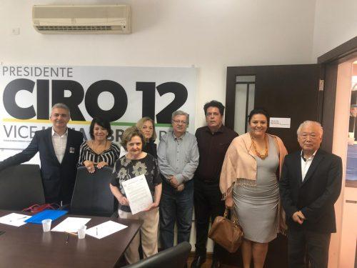 Presidente da FNO apresenta pauta de reivindicações a presidenciável Ciro Gomes, em São Paulo