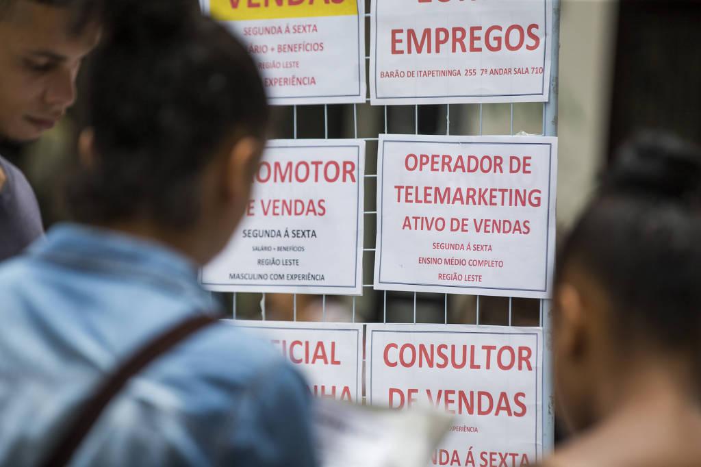 Lenta recuperação de vagas ameaça levar o Brasil a desemprego estrutural
