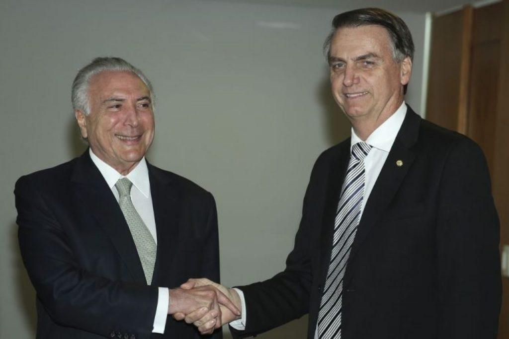 As afinidades eletivas entre Temer e Bolsonaro