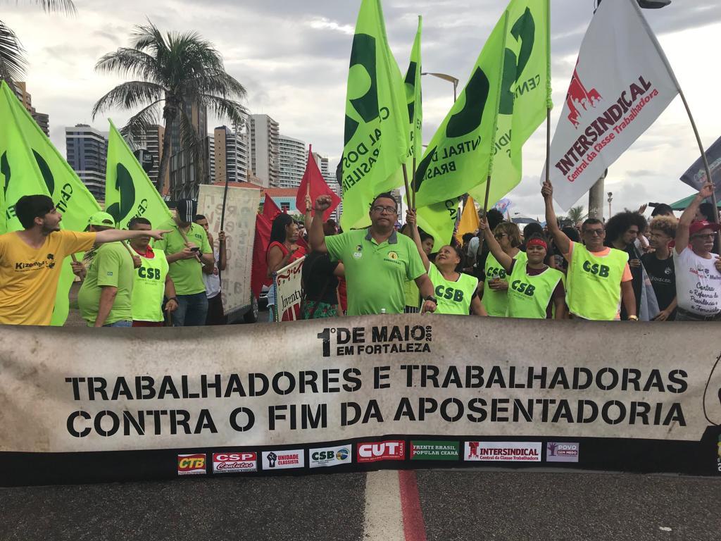 Fortaleza: CSB CE comanda a luta no 1º de maio pela previdência social solidária