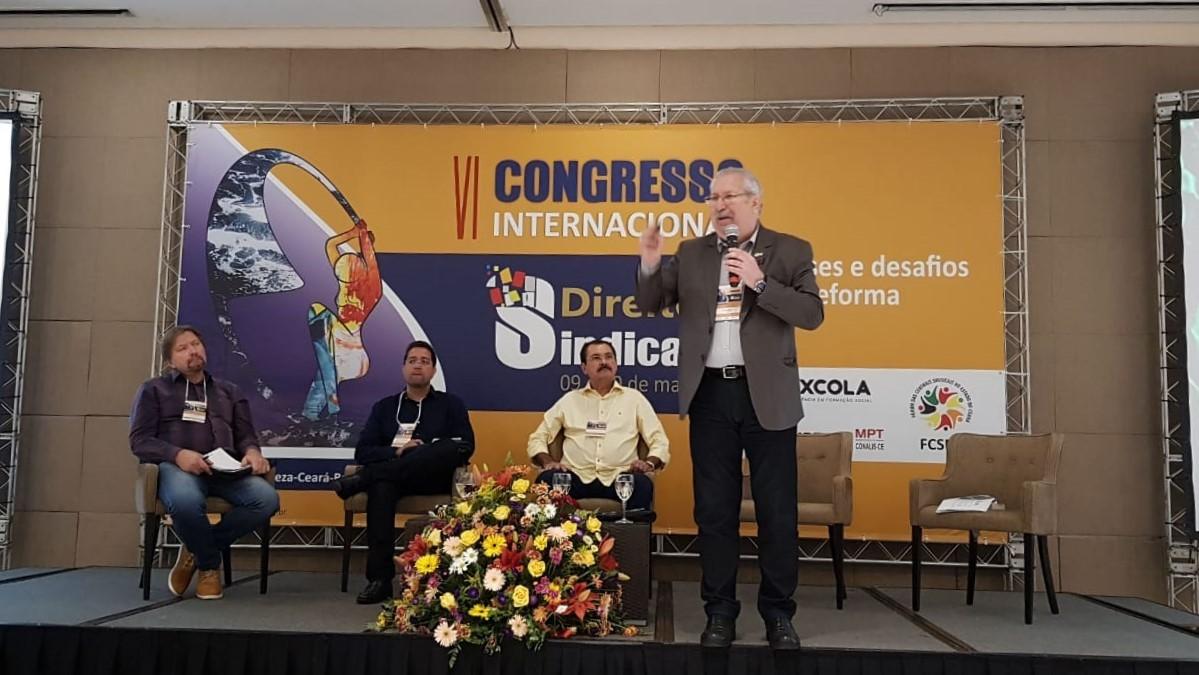 Antonio Neto reitera a importância do fortalecimento sindical diante do avanço do ultraliberalismo