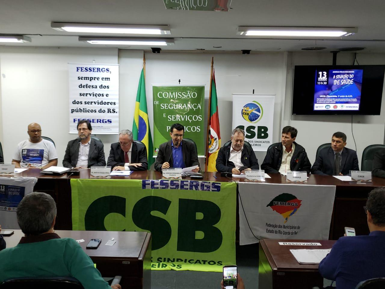 Fessergs defende a criação de um Fórum permanente de discussão sobre o IPE
