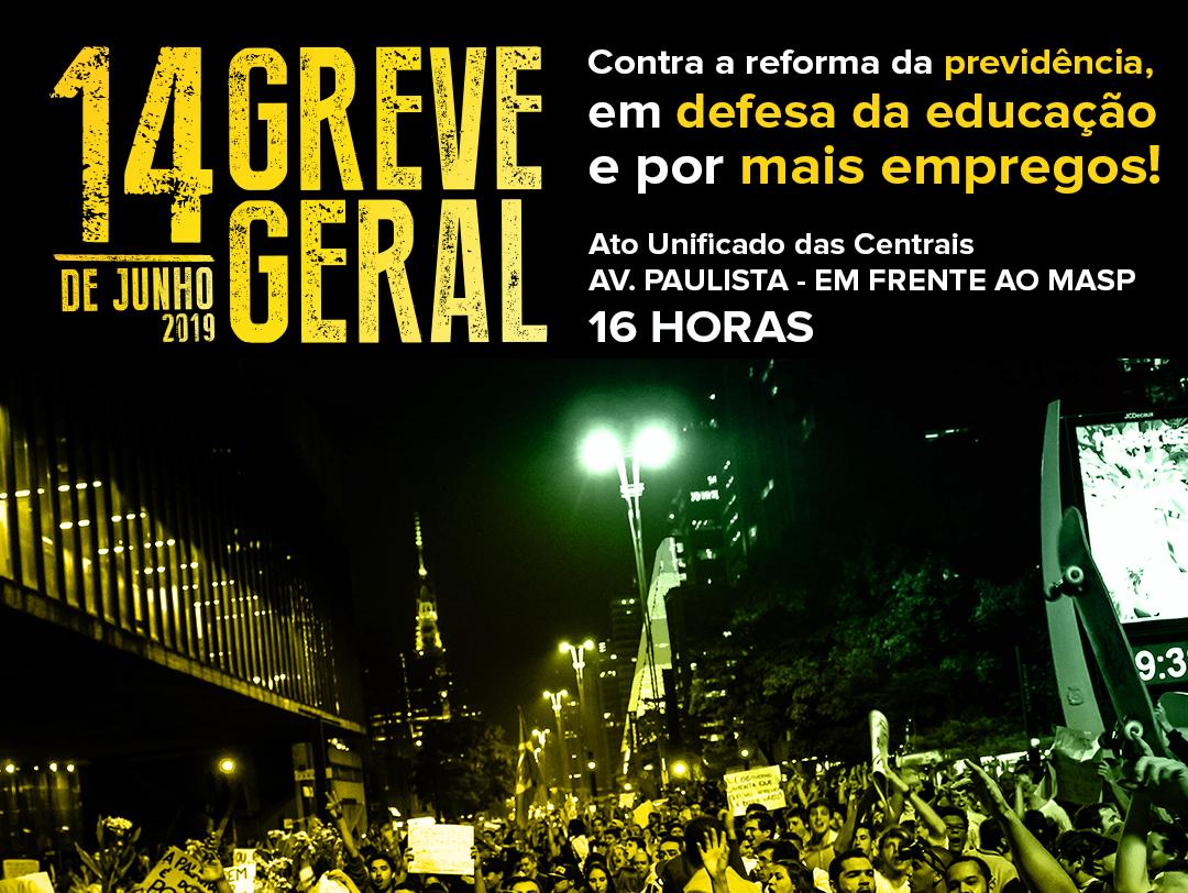 Movimento sindical está pronto para a GREVE GERAL de 14 de junho