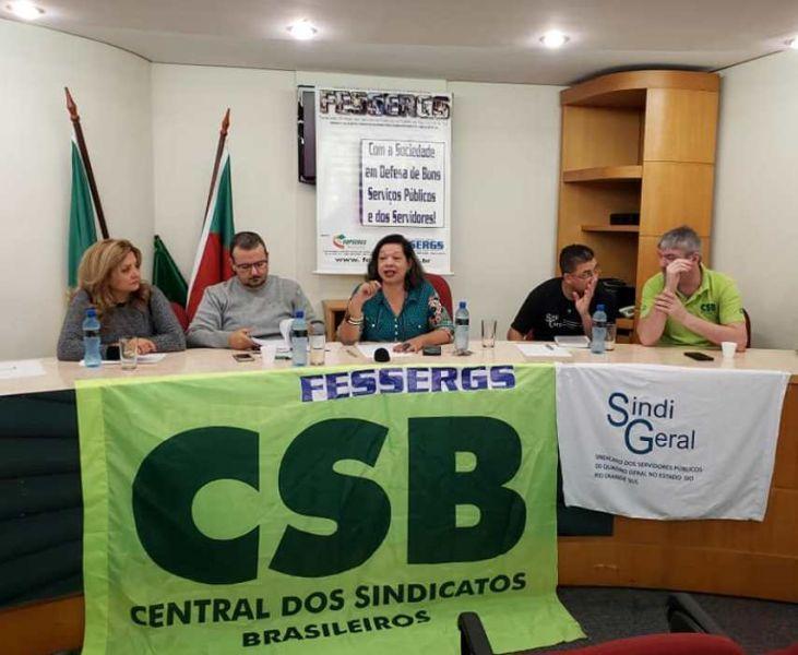 Fessergs reúne filiados para definir estratégias para greve geral