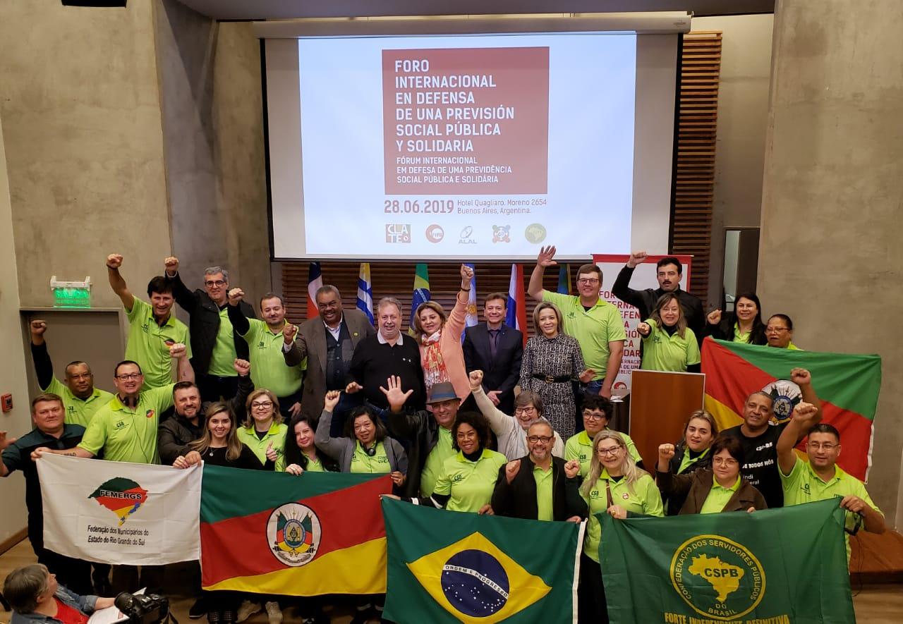 CSB participa de fórum internacional em defesa da previdência solidária em Buenos Aires