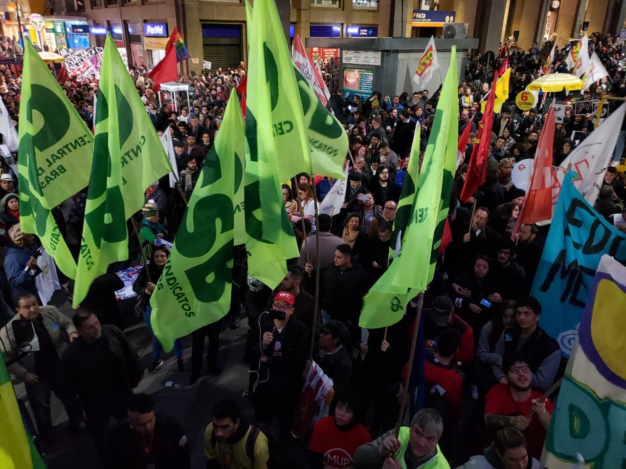 Dia de mobilização e luta nas ruas de todo o país