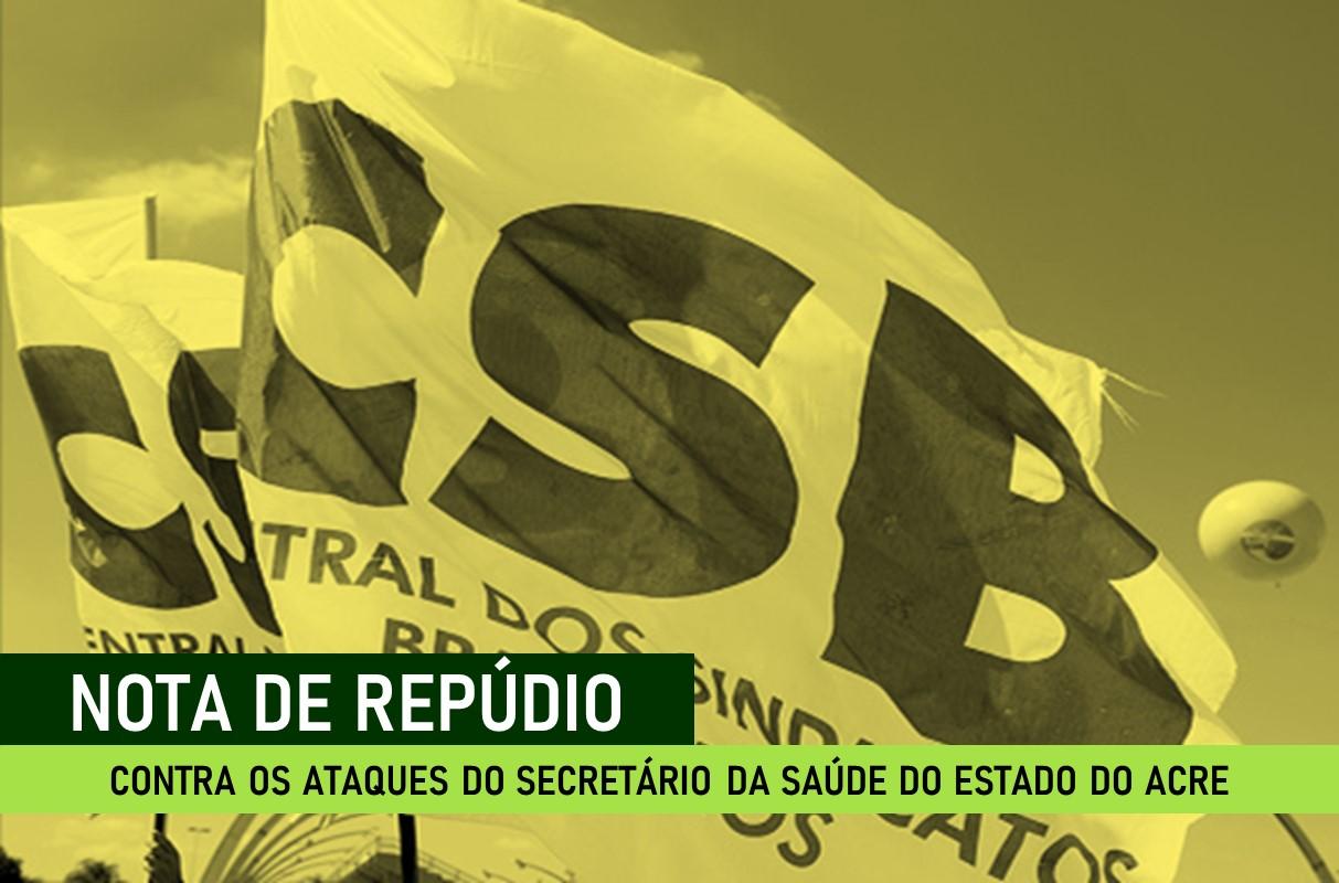 Sindicato dos técnicos de enfermagem publica nota de repúdio contra as declarações do secretário da saúde do Estado do Acre