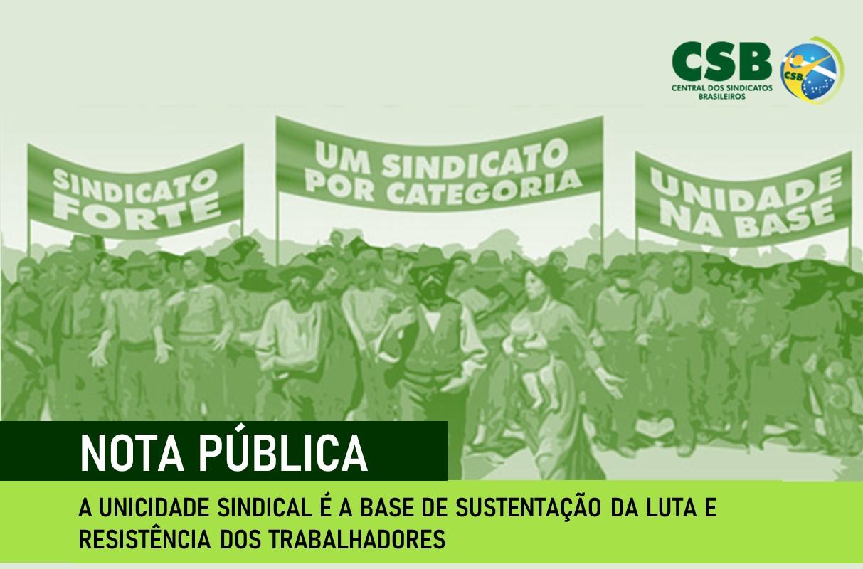 A unicidade sindical é a base de sustentação da luta e resistência dos trabalhadores