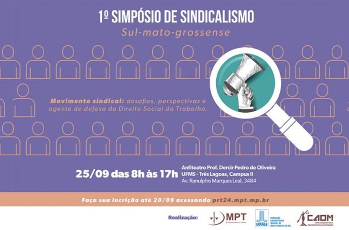 Três Lagoas sediará o 1º Simpósio de Sindicalismo Sul-mato-grossense
