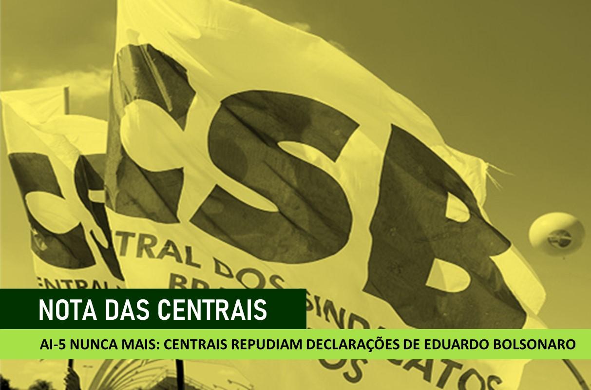 Centrais defendem abertura de processo no Conselho de Ética contra Eduardo Bolsonaro