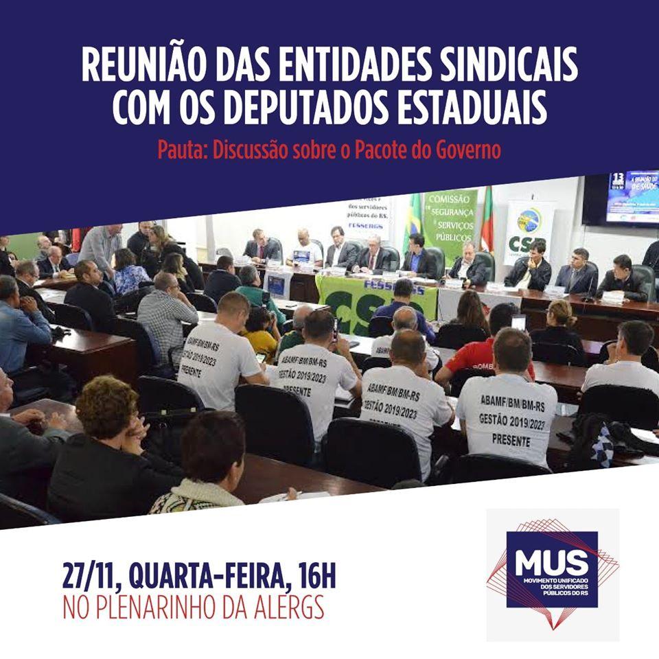 Representantes dos servidores gaúchos se unem no enfrentamento ao Pacote de Eduardo Leite