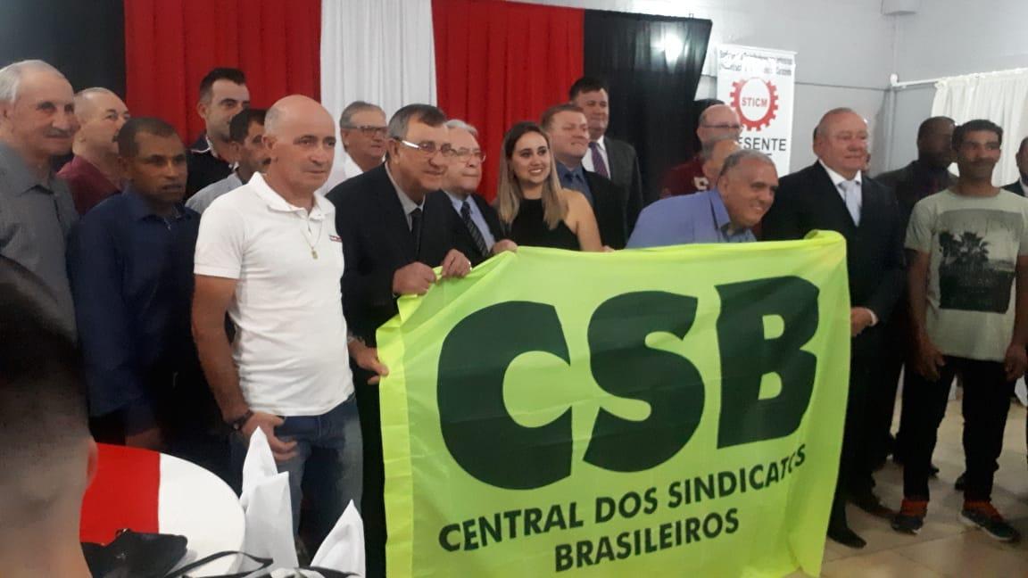 Toma posse nova diretoria do sindicato dos trabalhadores de construção imobiliária de Carazinho