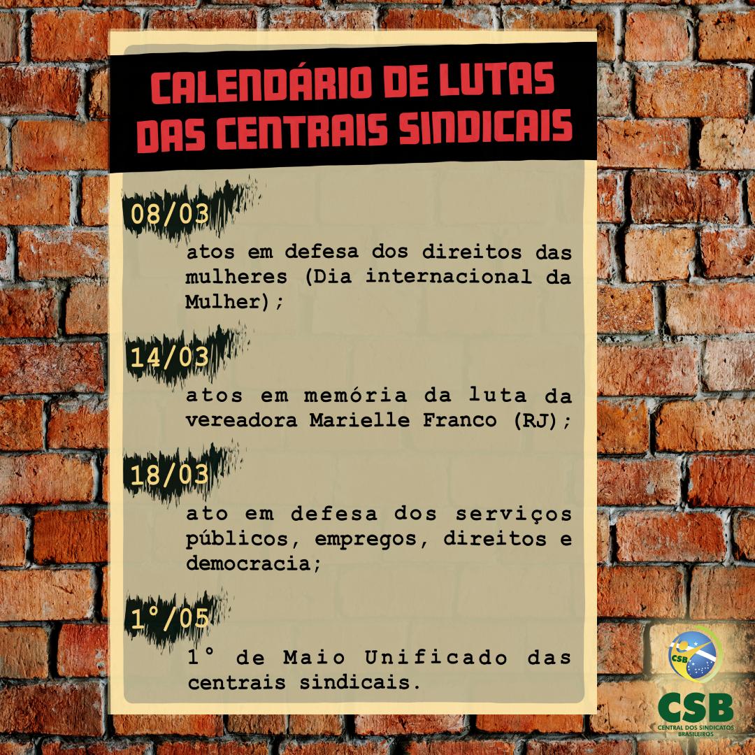 CSB – Card – Calendário Centrais Sindicais 2