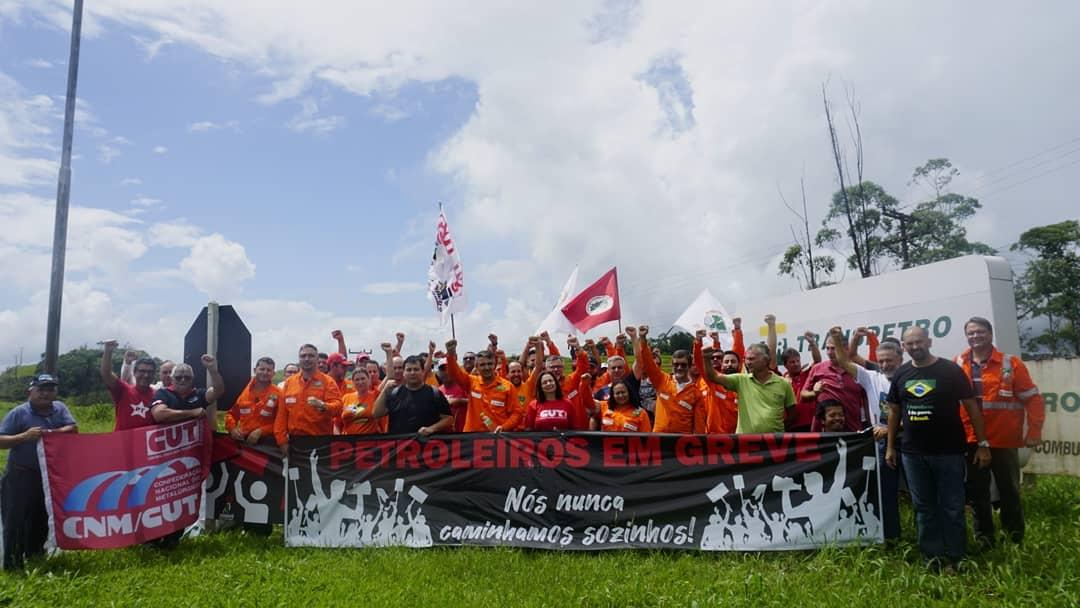 CSB marca presença em ato de apoio a greve dos petroleiros