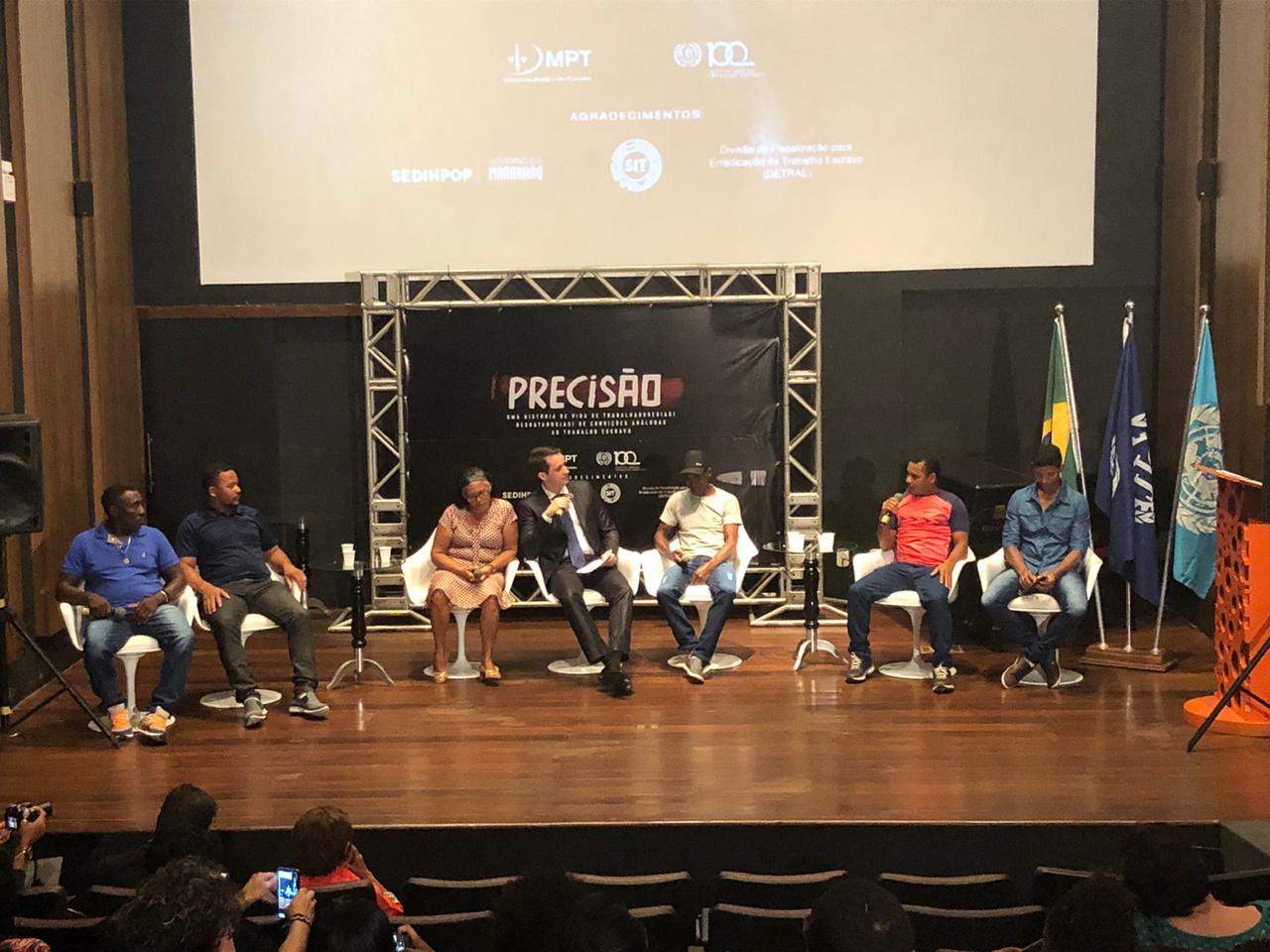 """Produzido pela OIT e pelo MPT, filme """"Precisão"""" emociona plateia no Maranhão"""