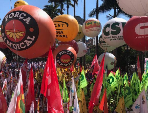 NAS RUAS! Centrais sindicais convocam trabalhadores para manifestação do dia 18